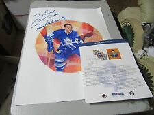 Frank Mahovlich Toronto Maple Leafs Canada Post Stamp Lithograph Print Signed 2*