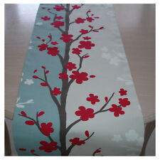 Nouveau table runner 120cm 4ft raspberry rose duck egg bleu marron crème blanche 48""