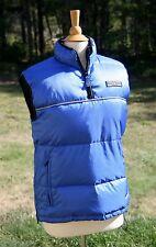 DKNY Active Down Vest Blue & Black Reflective Trim Size XS 1/4 Zip Read Descript