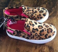 NEW Baby Girls CARTERS Cheetah Slip On Boat Shoes Size 6