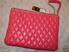 GUESS by Marciano Quilted Leather Purse Clutch  Wristlet PINK Smalll
