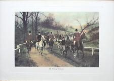 Impresión de caza del zorro-el primero de noviembre-Fine Art