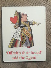 ALICE IN WONDERLAND COASTER: RED QUEEN - MATCHES OUR BOOKS & BAGS NEW IN CELLO