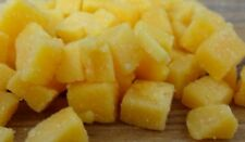 """High Temperature Cheddar Cheese 1/4"""" diced (5 lb) for Cooking Sausage Brats ect."""
