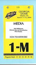 2004 SEC Basketball Championship Media Press Pass Badge Kentucky beat Florida