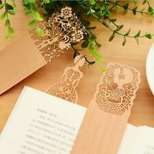 2PCS For books Bookmark Wood bookmarks 2016 Cute Hollow Out Yellow Delicate