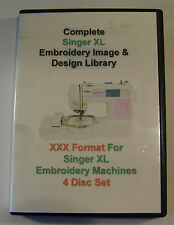 139,877 Singer XL Maschinen XXX Format EMBROIDERY Designs - 4 DISC BOX-SET