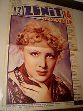 SONIA CLAIRE=1937/17=Novelle Zenit=Cover magazine=VERY BIG SIZE=