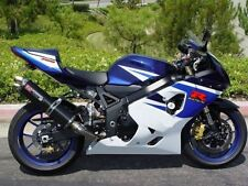 White Black Blue Injection Fairing For 2004-2005 Suzuki GSXR GSX-R 600 750