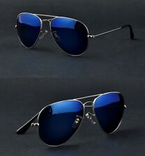 Ray Ban Aviator Blue Mirror RB3026 Aviator Large Metal 004/17 62▫️14 Italy