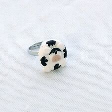 cow adjustable ring cute emo moo
