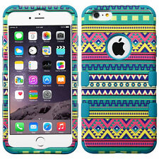 """New Tuff HYBRID Hard Case Cover Tribal Sun Tropical For Apple iPhone 6 PLUS 5.5"""""""