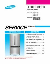 Samsung RFG293HARS RFG293HABP RFG293HAWP Service Manual and Repair Guide