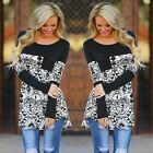 Fashion Women's Casual Loose Tops Long Sleeve T-Shirt Summer Blouse Cotton LM