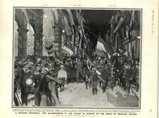 1909 Illuminations Hague Honouring Birth Princess Juliana German Labour Leaders