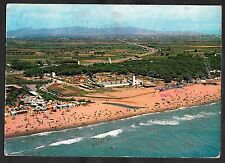 View of Castelldefels, Spain. Stamp/postmark 1967