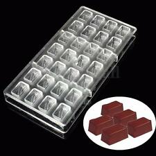 3D Rectangular Box DIY Tools Hard Polycarbonate PC Chocolate Mould Candy Mold