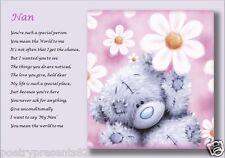 NAN.......nana, gran, nanny, grandma, granny  personalised poem (Laminated Gift)