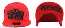 BERRETTO RAP HIP HOP CAPPELLO CAPPELLINO VISIERA PIATTA BAD BOY BAD GIRL ROSSO