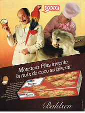 PUBLICITE ADVERTISING 054  1980  BAHLSEN  gateaux noix de coco MR PLUS