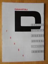 DAIHATSU Range orig 1984 UK Mkt brochure - Charade Fourtrak Hijet Pick up etc