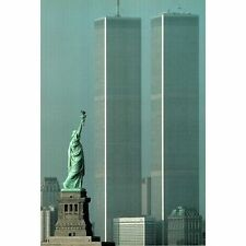 AMERICA STANDS TALL - TWIN TOWERS POSTER - 24x36 NEW YORK CITY SKYLINE 36021