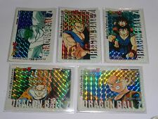 DRAGON BALL Z PULL PACK PART 25 PRISM TOTAL 5 CARDS NOT A SET