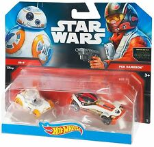 Hot Wheels Star Wars - BB-8 & Poe Dameron Cars, 2 pack, The Force Awakens