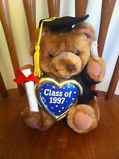 Carlton Cards Heartwarmers graduation bear Class Of 1997 High School College OOP