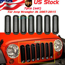For 2007-2015 Jeep Wrangler JK Unlimited Rubicon Sahara Sport Mesh Grille Grill
