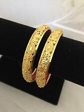 BOLLYWOOD INDIAN BRIDAL COSTUME GOLD PLATED GP TRENDY BRACELET BANGLE 2.8