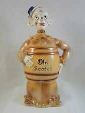 "Vintage figural Bar MUSIC BOX CLOWN Scotch DECANTER music plays ""How Dry I Am"""