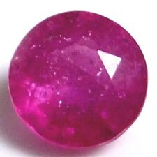 NATURAL PRETTY REDDISH PINK RUBY LOOSE GEMSTONES (6.0 mm) ROUND-FACET