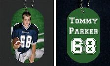 """Personalized Custom Photo Picture 2 Side Aluminum Dog Tag Necklace + 30"""" Chain"""