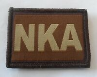 Desert Velcro Blood Group Patch, Badge, Tan, Army, NKA, No Known Allergies