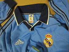 RARE Adidas EQUIPMENT Real Madrid Long Sleeve soccer jersey vtg year 2000 blue