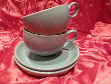 ��   Denby Manor Green Pair Of Tea Cups & Saucers   ��