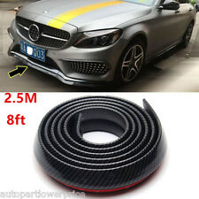 Universal Carbon Fiber Front Bumper Lip Spliter Chin Spoiler Body Trim 2.5m(8ft)