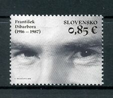 Slovakia 2016 MNH Frantisek Dibarbora 1v Set Films Movies Actors Stamps