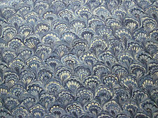 "SCHUMACHER CURTAIN FABRIC DESIGN ""Capulet"" 3.35 METRES LAPIS  (335 CM)"