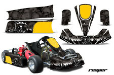 AMR Racing Paul Tracy PKT Kid JR Cadet Kart Graphic Decal Kit Parts REAPER BLACK