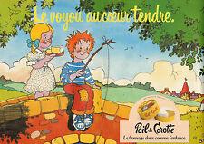 Publicité 1979  (Double page)  Poil de Carotte  Le fromage doux comme l'enfance