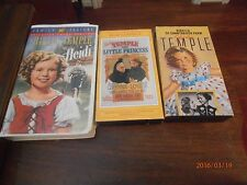 Shirley Temple in Heidi & the Little Princess, Rebecca of Sunnybrook Farm 3 VHS