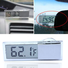 LCD Digital Temperature Meter Indoor Outdoor Suction Cup Car Auto Thermometer