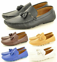 New Men's Perforated Casual Loafers Moccasins Slip on Tassel Shoes UK Sizes 6-11