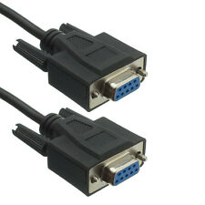 15Ft RS232 D-Sub DB9 Female to Female Serial Null (Crossover) Modem / Data Cable