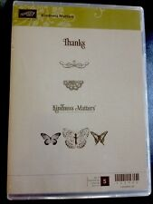 """""""KINDNESS MATTERS"""" Stampin'UP! NEW~WOOD unmounted-butterflies,thanks,kindness"""