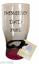 Funny Novelty Dad Gift UK - Emergency Dad Fuel  Hand Painted Pint Glass