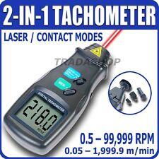 Tachimetro Digitale Laser Contagiri Ottico Contatto 99.999 RPM tornio