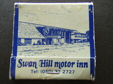 SWAN HILL MOTOR INN SILVER SLIPPER LICENCED RESTAURANT COCKTAIL 322727 MATCHBOOK